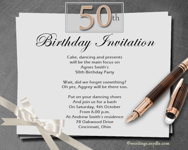 invitation matter for birthday party ; 50th-birthday-party-invitation-wordings