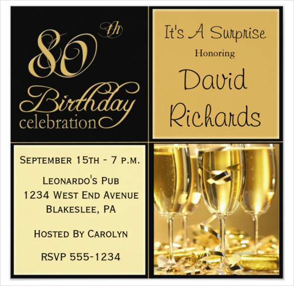 invitation to 80th birthday party free template ; Wine-gold-colour-Surprise-80th-Birthday-Party-Invitation