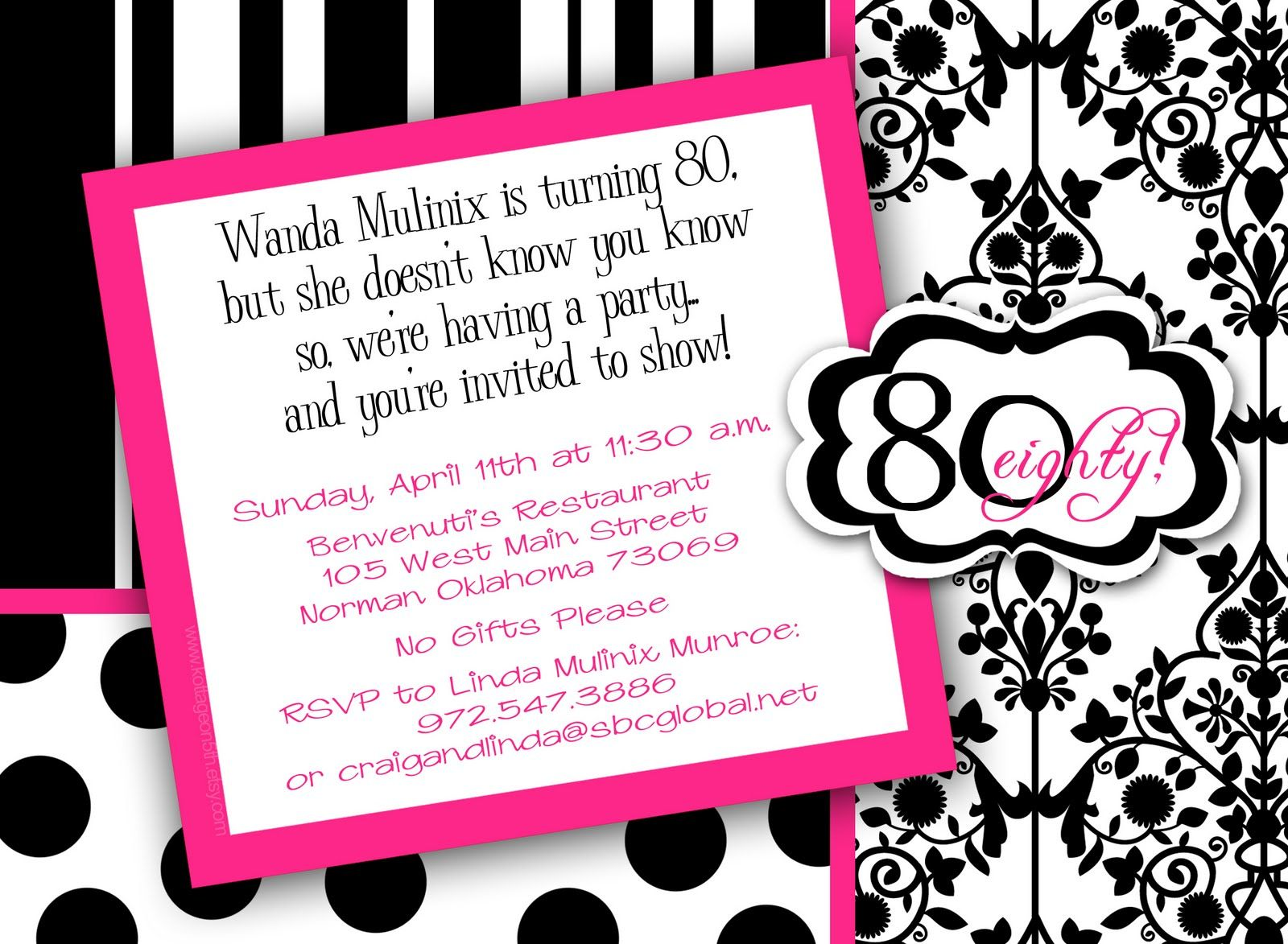 invitation to 80th birthday party free template ; f737b0323c48c7b76c3d09367a86aa9f