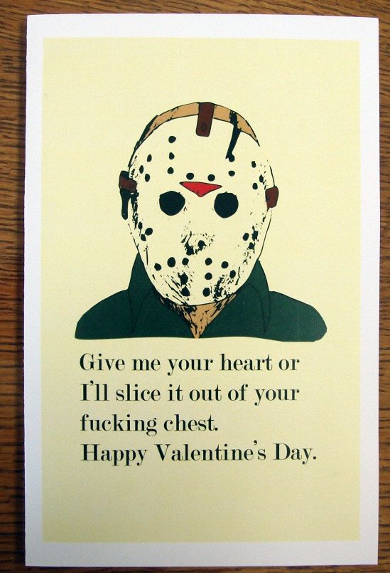 jason voorhees birthday card ; b2734102a025bd05d0efd331ba23bea9--valentine-day-love-friday-the-th