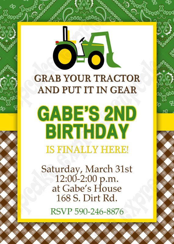 john deere birthday invitation templates free ; tractor-birthday-invitations-by-means-of-creating-stunning-outlooks-around-your-Birthday-Invitation-Templates-20