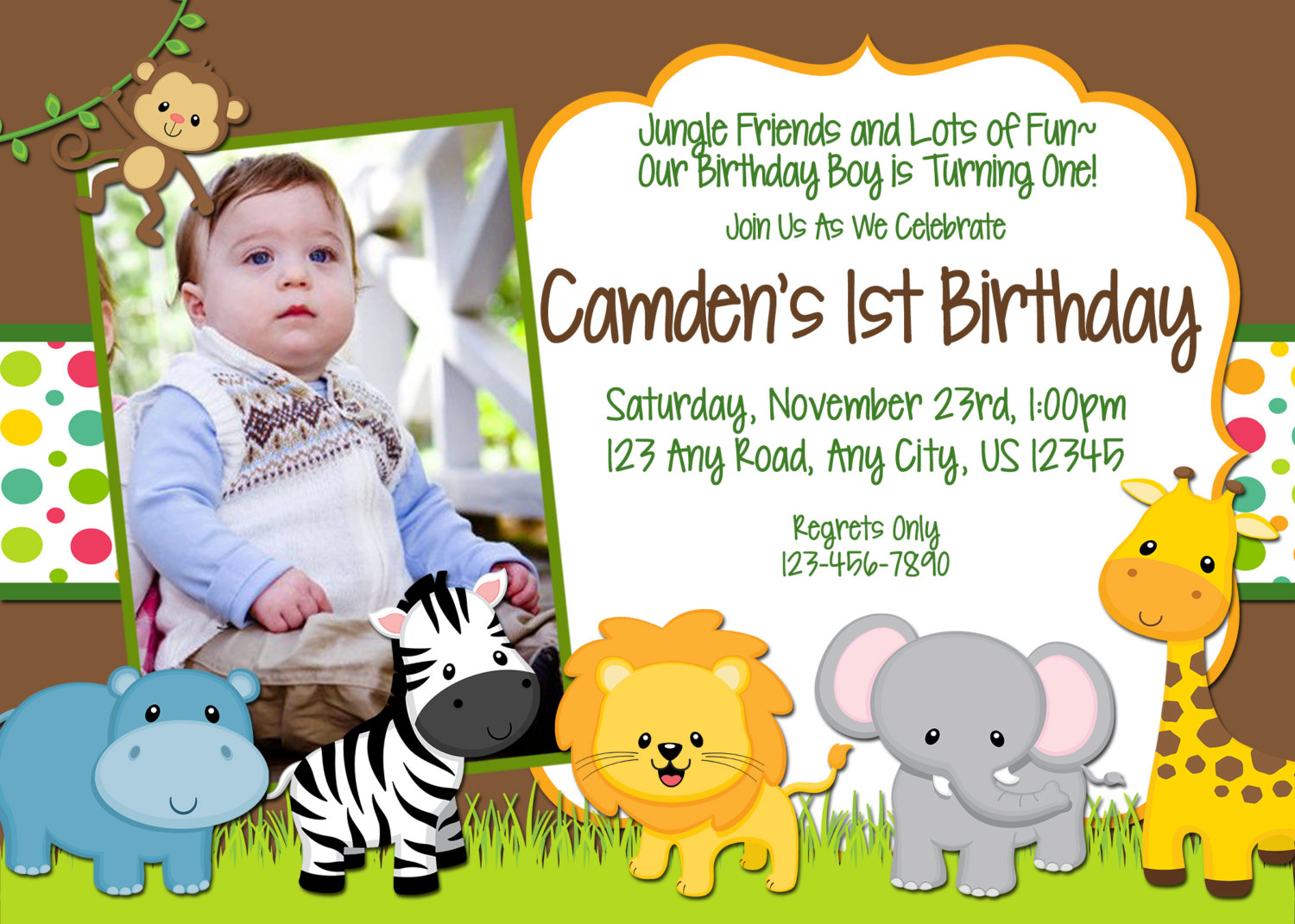jungle birthday invitation wording ; jungle-birthday-invitations-with-decorative-Birthday-Invitation-Templates-as-a-result-of-an-application-using-a-felicitous-concept-4