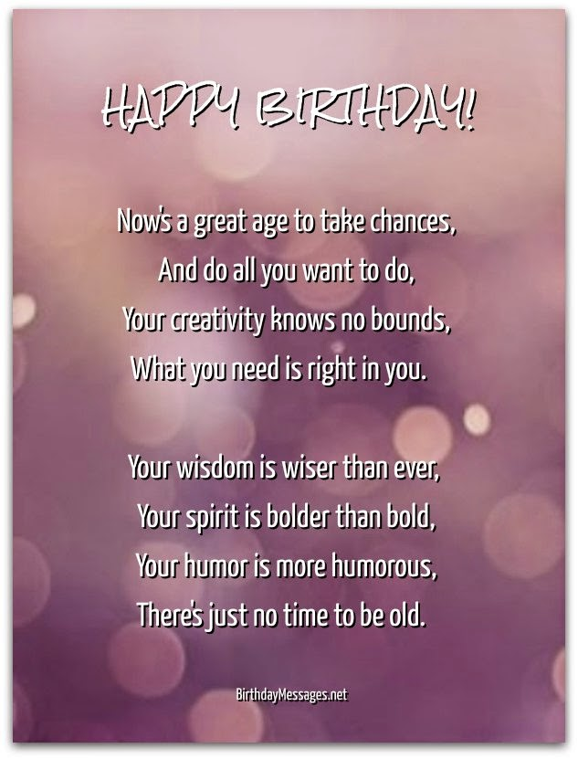 just wanted to wish you a happy birthday ; birthday-poems-picture
