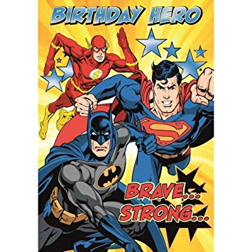 justice league birthday card ; 71s2HnMCLVL
