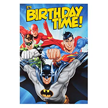 justice league birthday card ; 91gGpGLkBlL