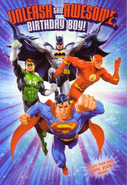 justice league birthday card ; jlacreatecomiccard01