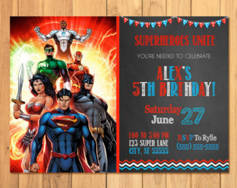 justice league birthday card ; justice-league-party-invitations-is-the-best-theme-to-forge-your-beauteous-Party-invitations-1