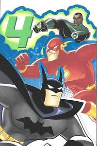 justice league birthday card ; s-l300