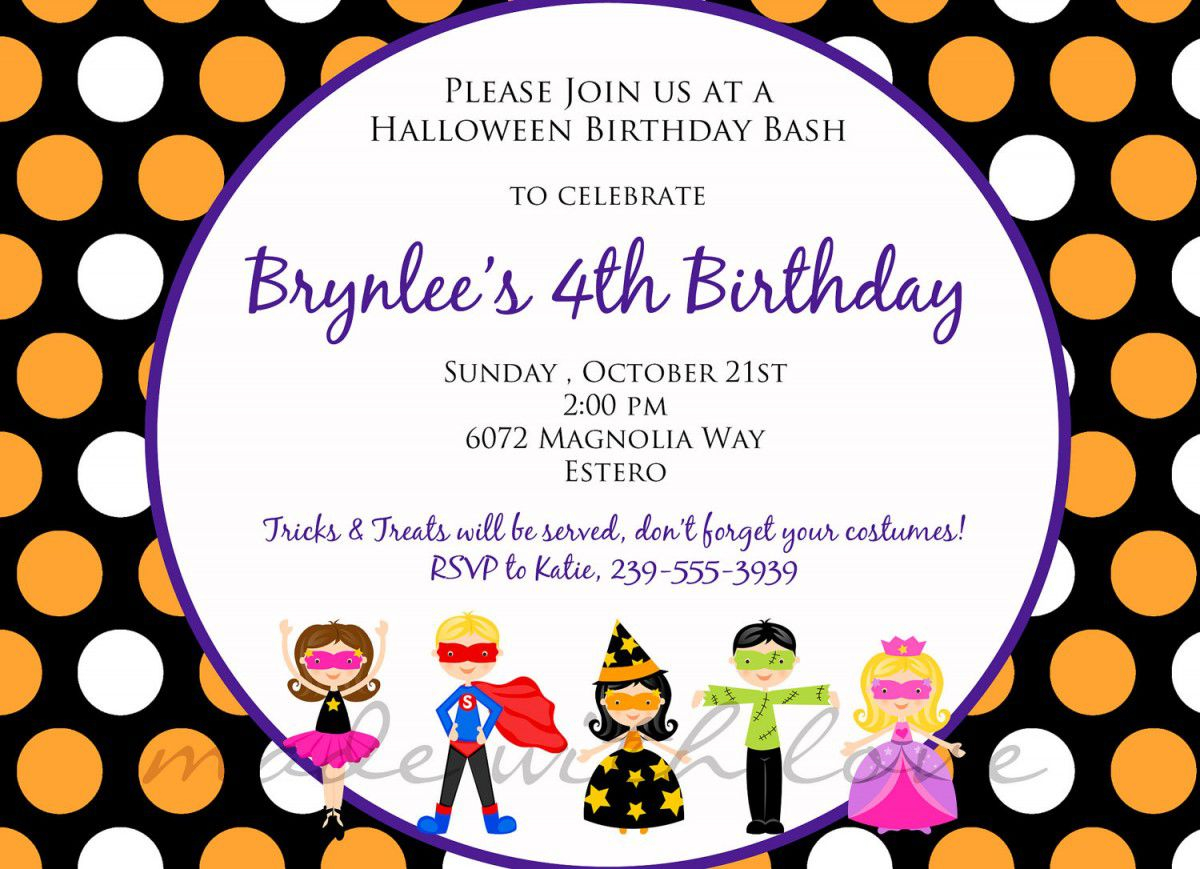 kids birthday invitation text ; create-kids-birthday-invitation-wording-templates-smart-design