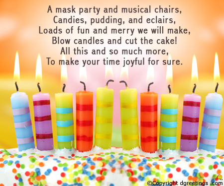 kids birthday invitation text ; mask-party-invitation-card