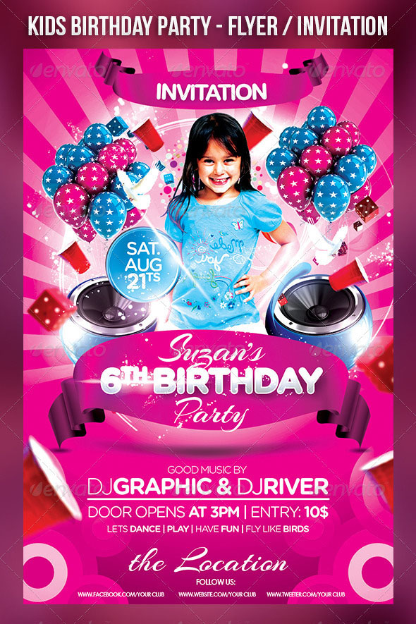kids birthday poster ; 01_kid-Prev