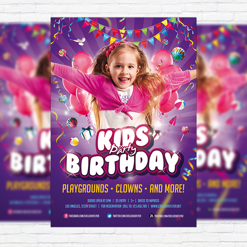 kids birthday poster ; 1-28-1