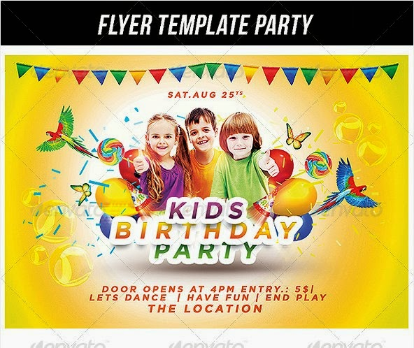 kids birthday poster ; Kids%252BBirthday%252BParty