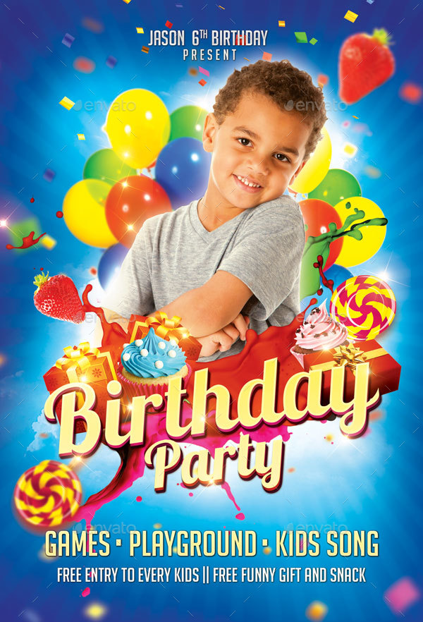kids birthday poster ; birthday3