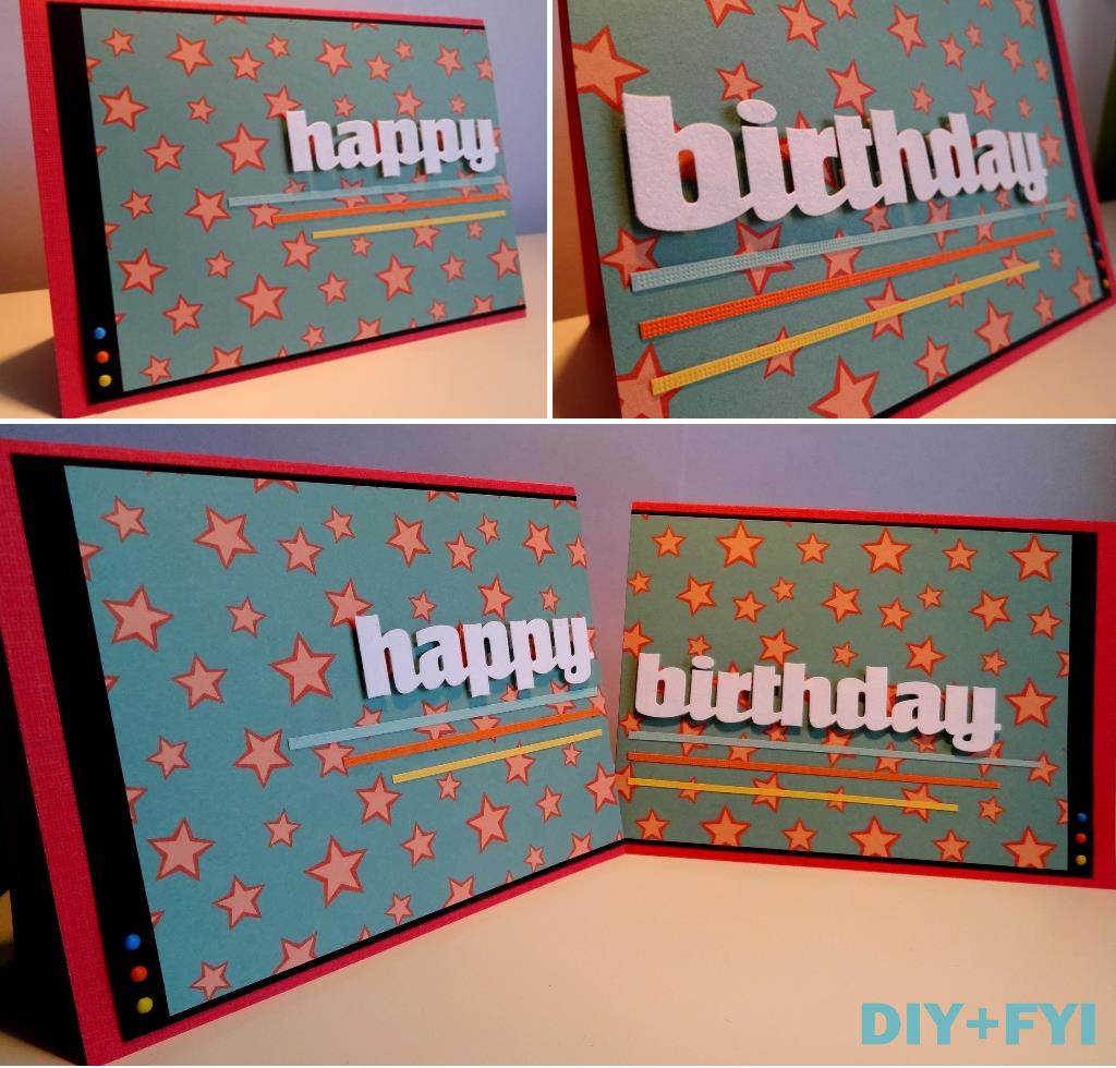 large birthday cards ; collage-duo-card