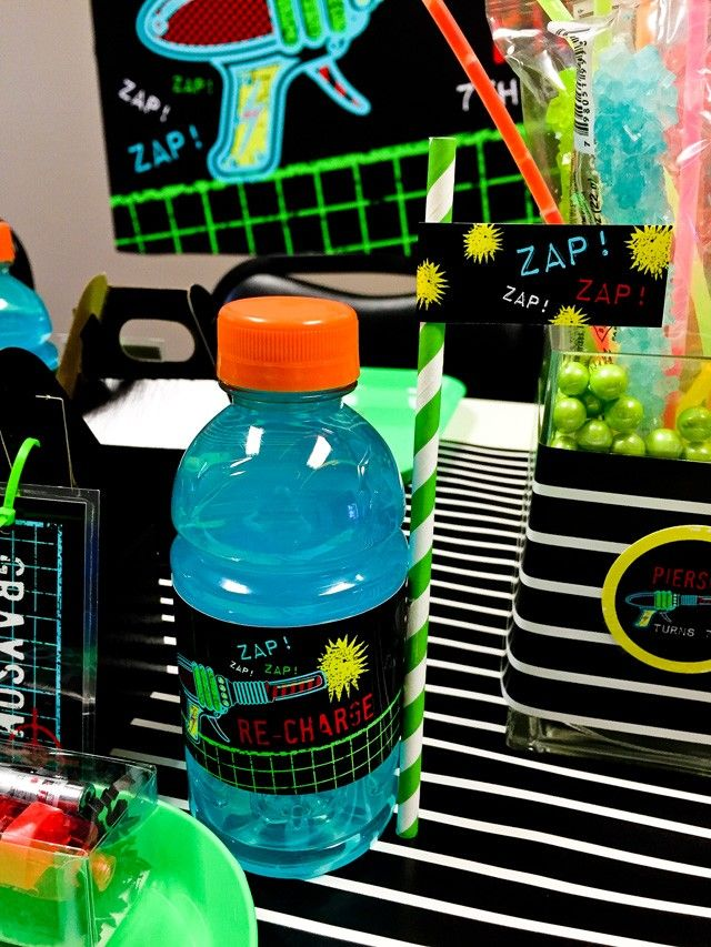 laser tag birthday party at home ; 7f0067e627d6511aa262e91c45ec789f--birthday-party-drinks-birthday-favors