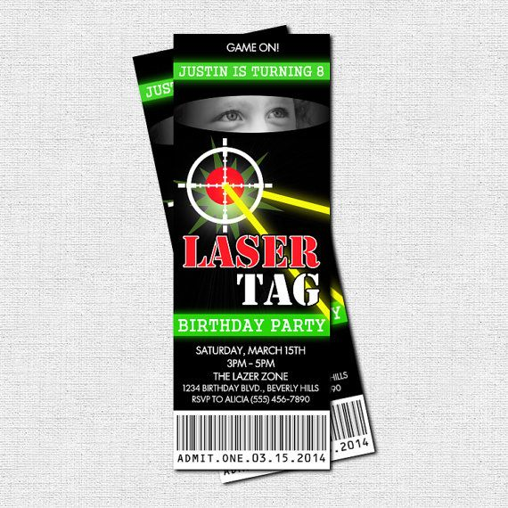 laser tag birthday party at home ; f0a86c311231b4026fbaa5ab2f07c88d--printable-party-invitations-ticket-invitation