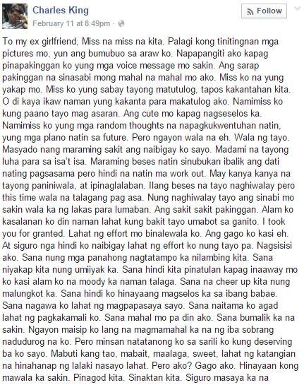 long birthday message for girlfriend tagalog ; Charles-King-Post