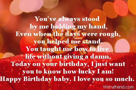 love poem to my wife on her birthday ; 1928-wife-birthday-poems