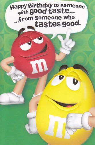 m&m birthday card ; 51bSpZVLyZL