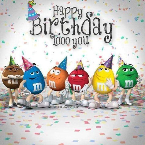 m&m birthday card ; bfbf8576bcc53782724459c57a7d60a5