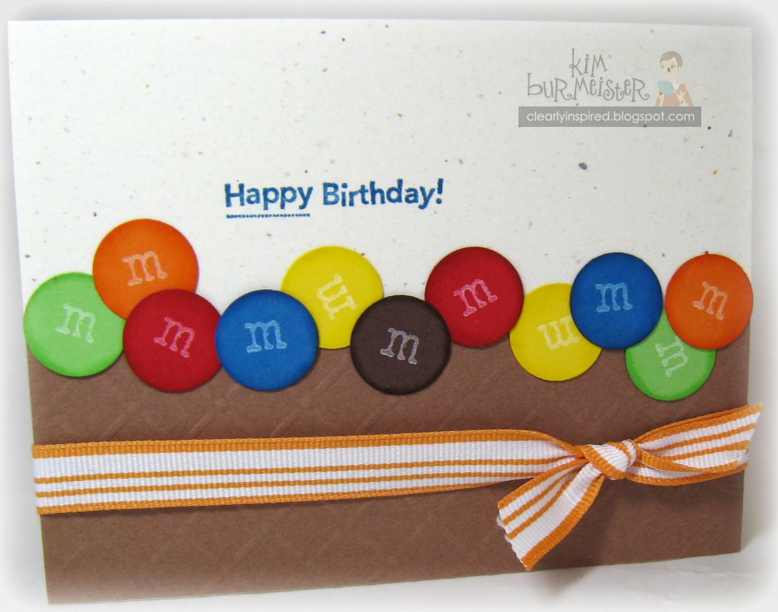 m&m birthday card ; kimb+mm+card