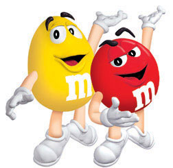 m&m birthday card ; mmchars