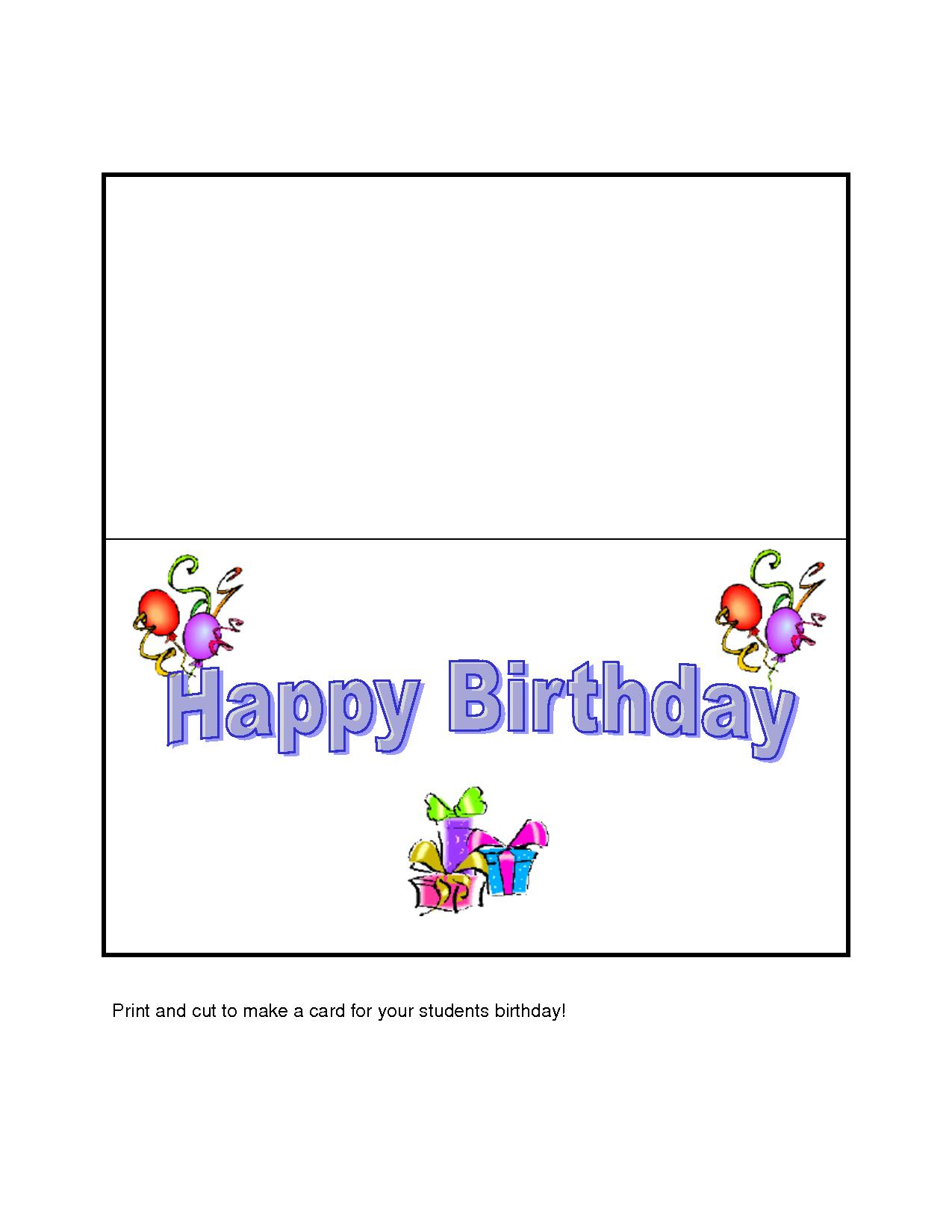 make a birthday card to print free ; Print-Your-Own-Birthday-Card-Ideal-Make-Your-Own-Birthday-Cards