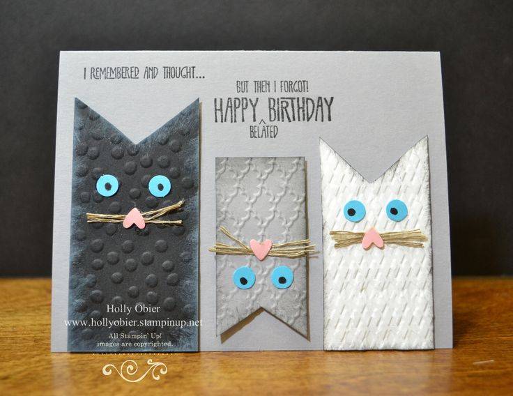 make my birthday card ; 0be0ac297c2dbaea57a0292e3cb84c9c--cat-birthday-cards-my-birthday