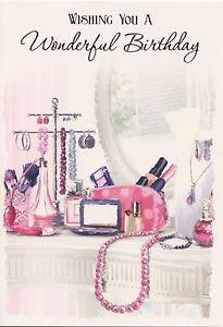 makeup birthday card ; s-l300-1
