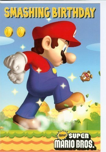 mario brothers birthday card ; 517WsVfLqTL
