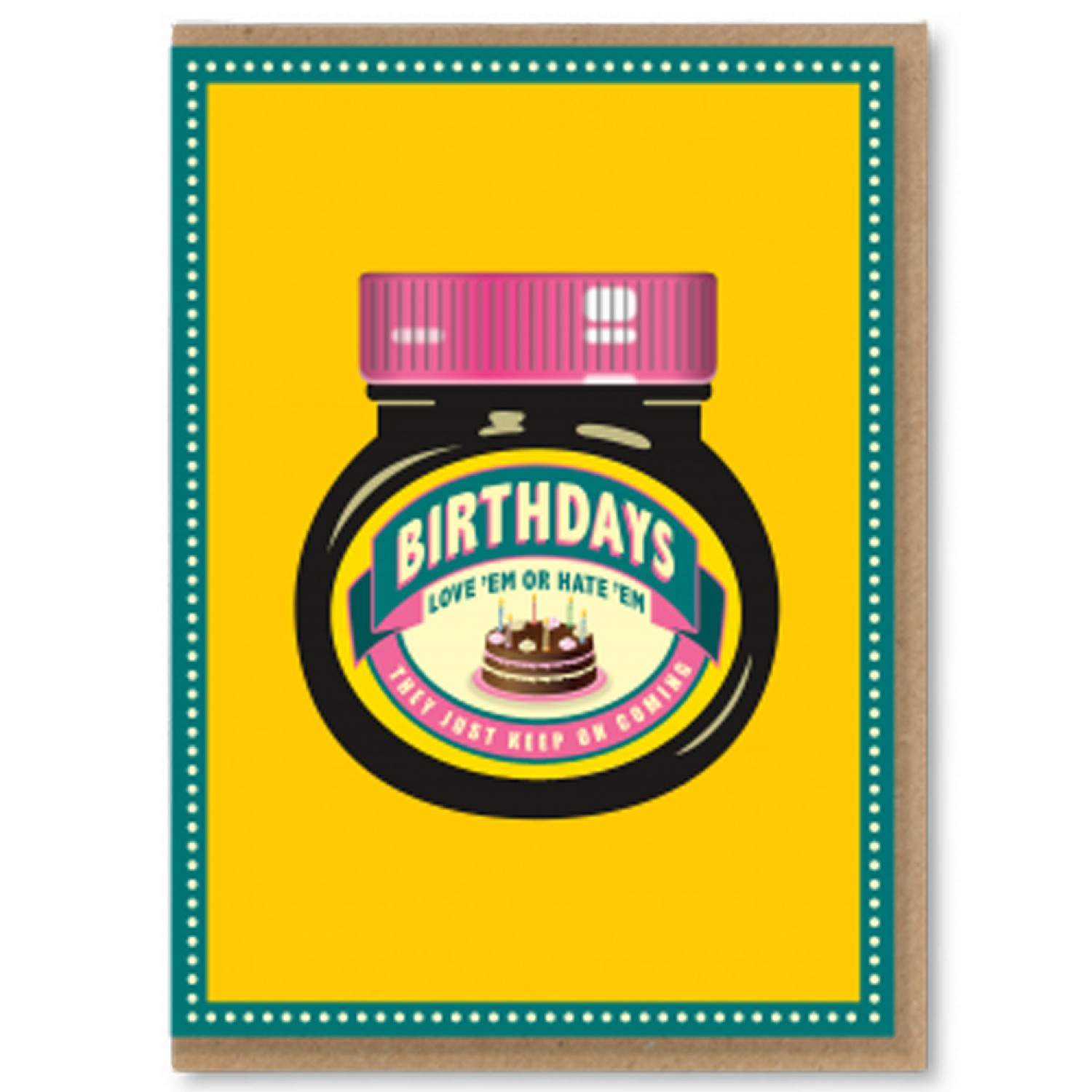 marmite birthday card ; marmite