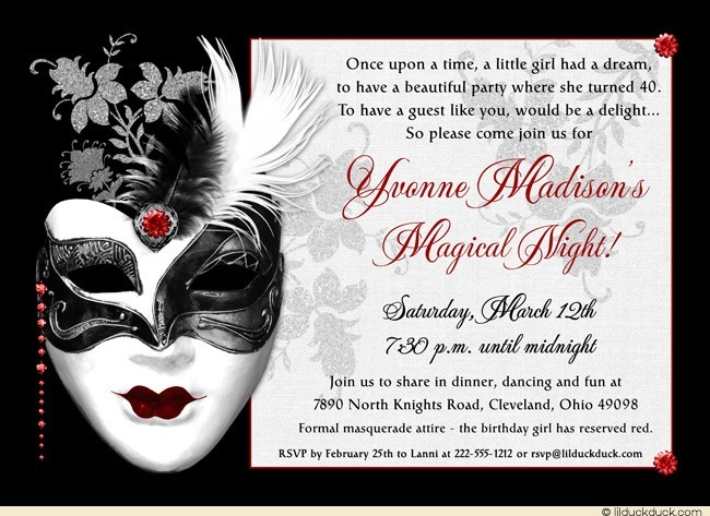 masquerade birthday party invitation wording ; masquerade-birthday-party-invitations-make-your-surprising-Party-invitations-much-more-awesome-20