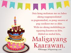 message for birthday girl tagalog ; 737b5431e3470196d3fee503f1fbe924