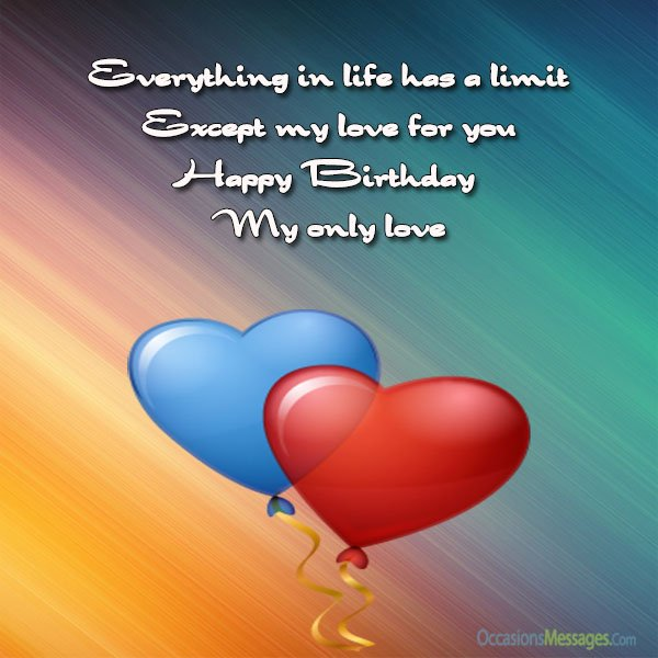 message of happy birthday to my love ; Happy-birthday-my-love-Messages