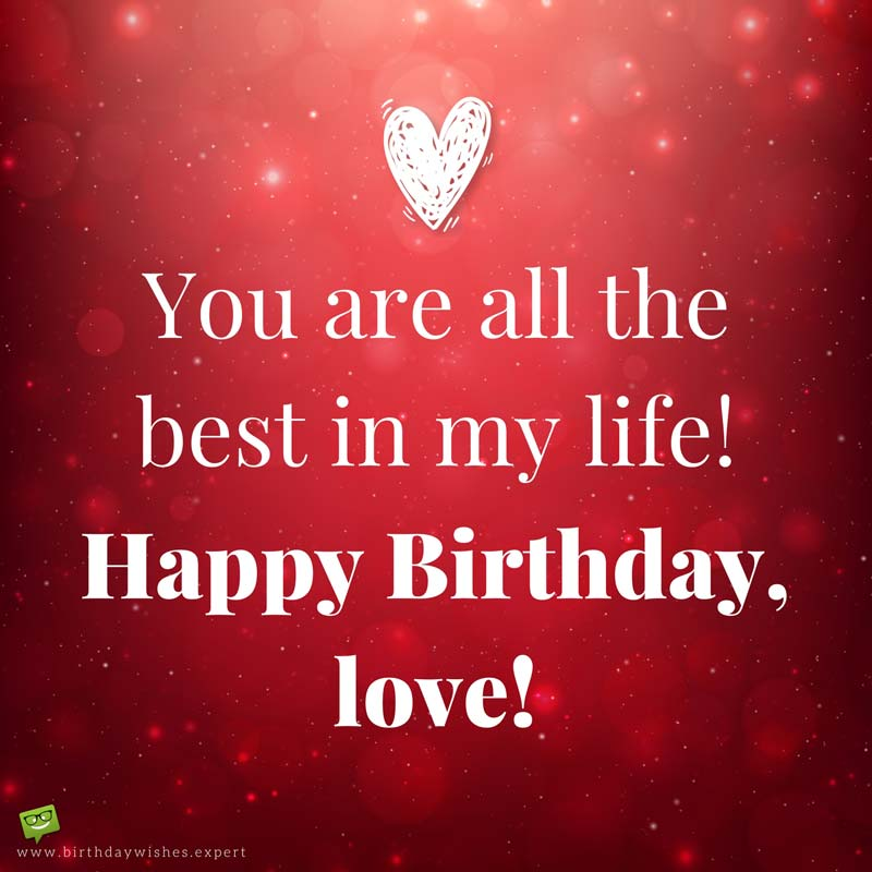 message of happy birthday to my love ; Romantic-birthday-wish-for-my-girlfriend-on-red-background-2