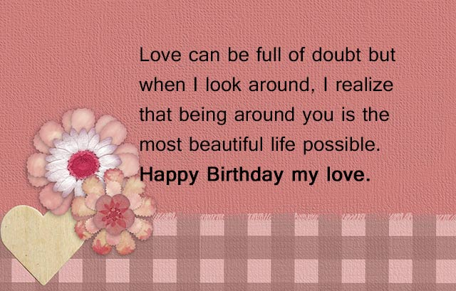 message of happy birthday to my love ; cute-romantic-birthday-wishes-for-boyfriend