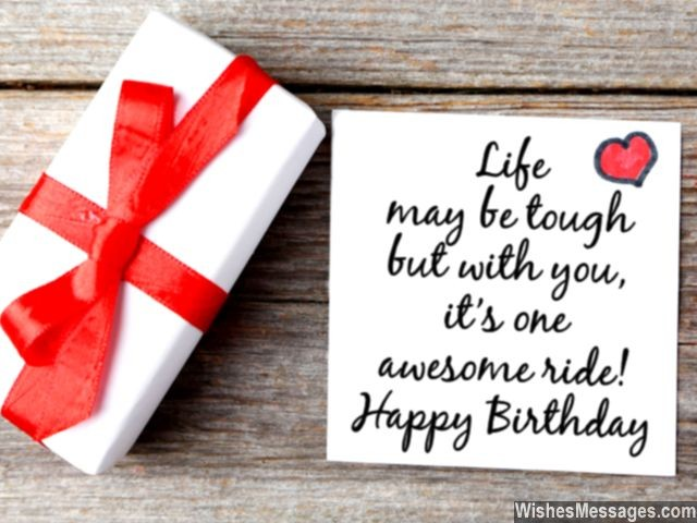 message to husband on his birthday ; Sweet-birthday-card-quote-for-him-life-awesome-with-you-640x480