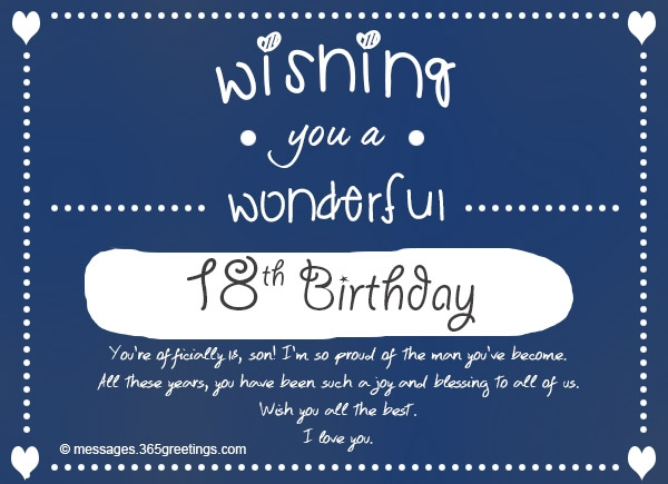message to son on 18th birthday ; son-18th-birthday-card-18th-birthday-wishes-messages-and-greetings-365greetings