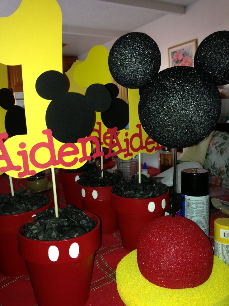 mickey mouse first birthday picture ideas ; chic-mickey-mouse-centerpiece-ideas-230-best-images-on-pinterest-parties-baby-clubhouse