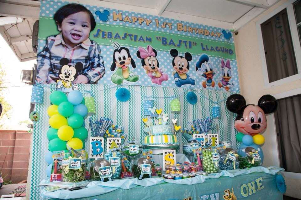 mickey mouse first birthday picture ideas ; image