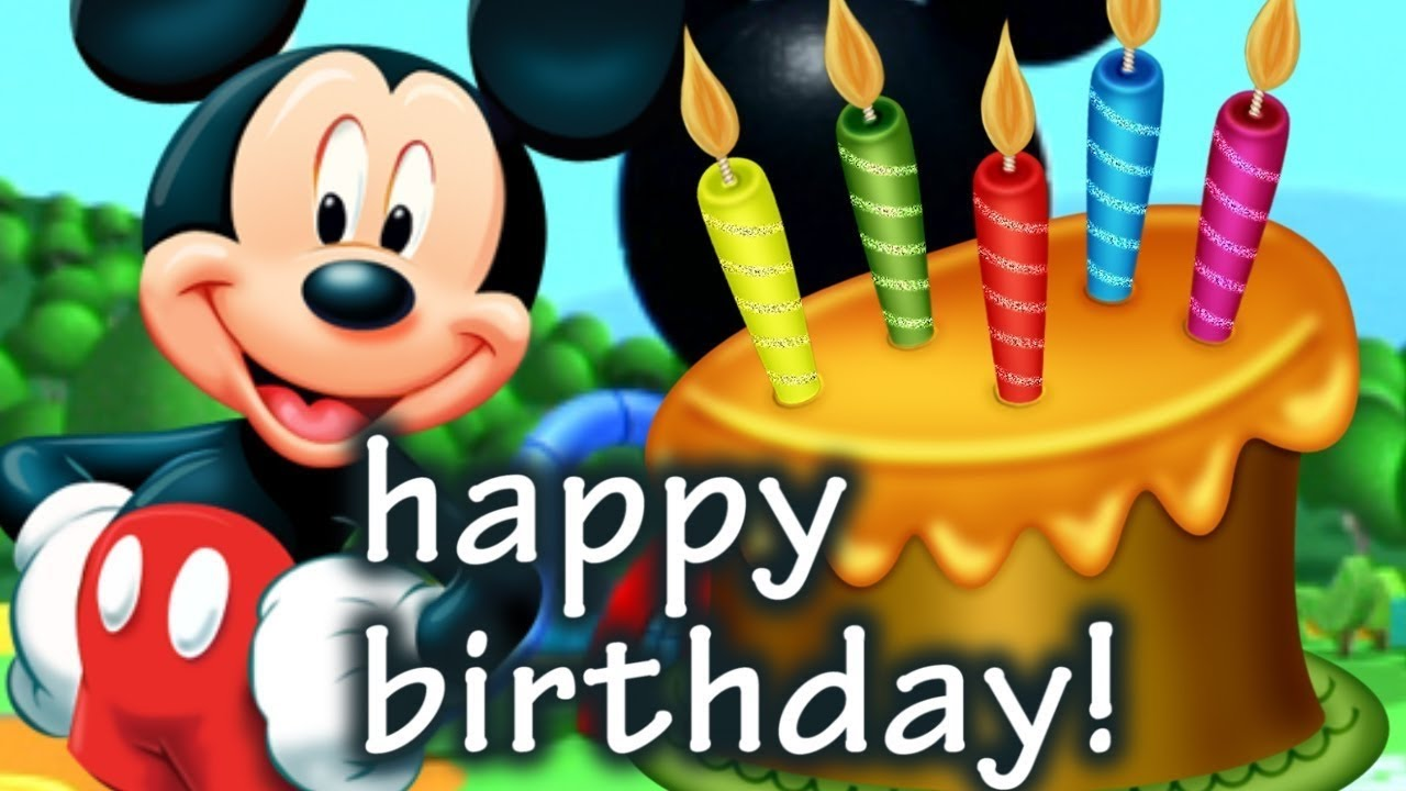 mickey mouse happy birthday pictures ; maxresdefault