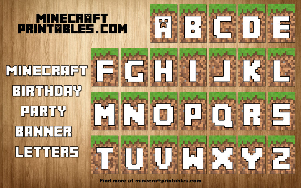 minecraft birthday banner ; free-printable-minecraft-birthday-party-banner-alphabet-letters-letter-template
