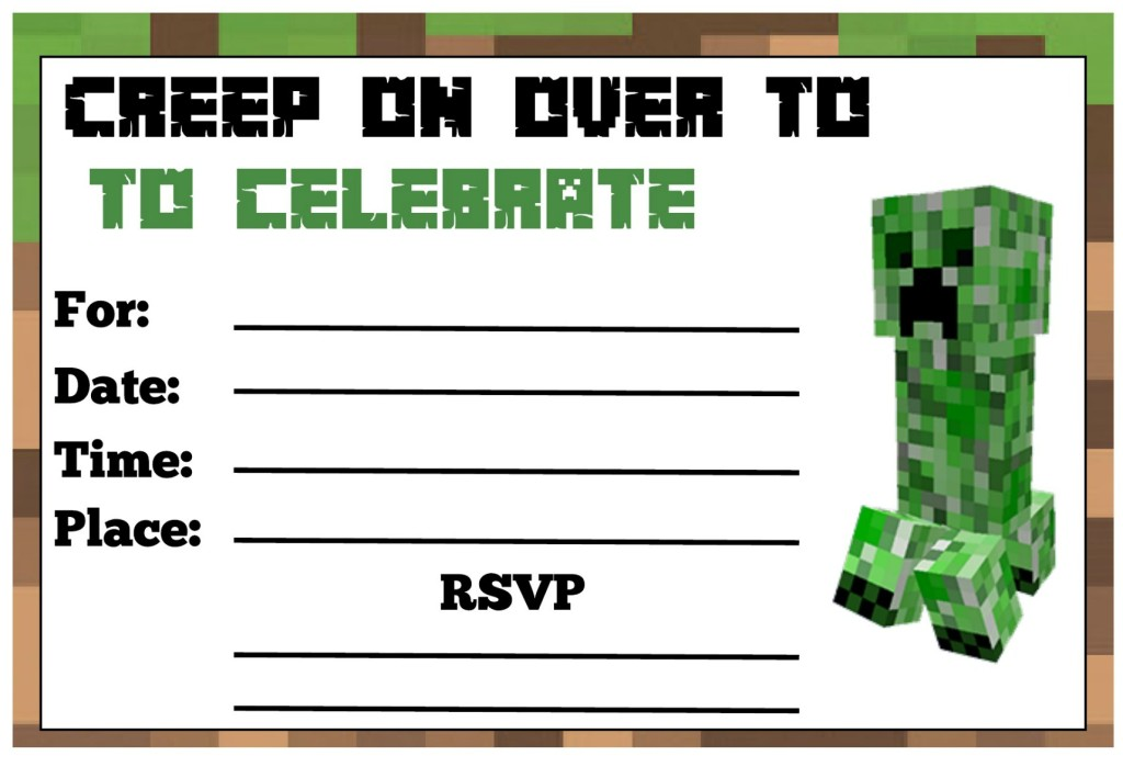minecraft birthday card maker ; minecraft-birthday-invitation-together-with-a-picturesque-view-of-your-Birthday-Invitation-Templates-using-stunning-invitations-18