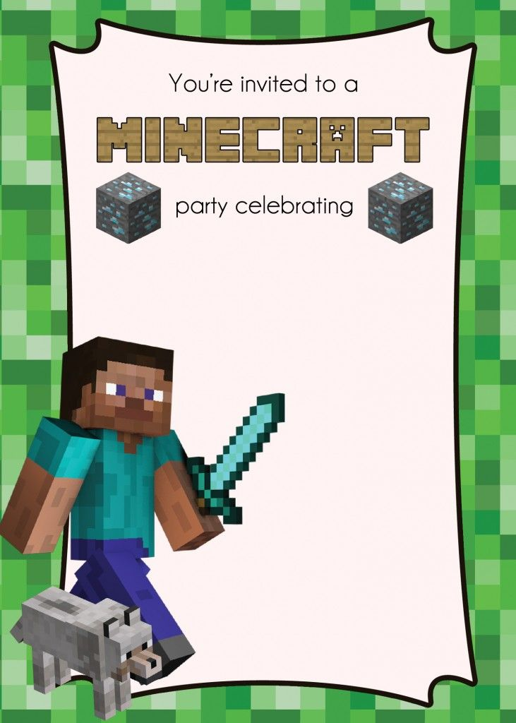 minecraft birthday card maker ; minecraft-birthday-invitations-by-existing-some-awesome-ornaments-on-your-Birthday-Invitation-Template-21