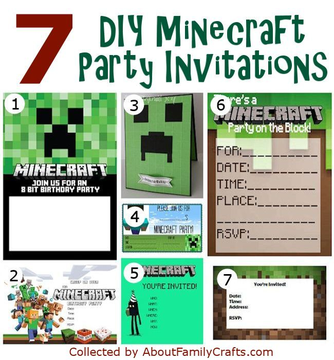 minecraft birthday card maker ; minecraft-birthday-party-invitations-with-glamorous-invitation-template-to-beautify-your-amazing-Birthday-Invitation-Template-19