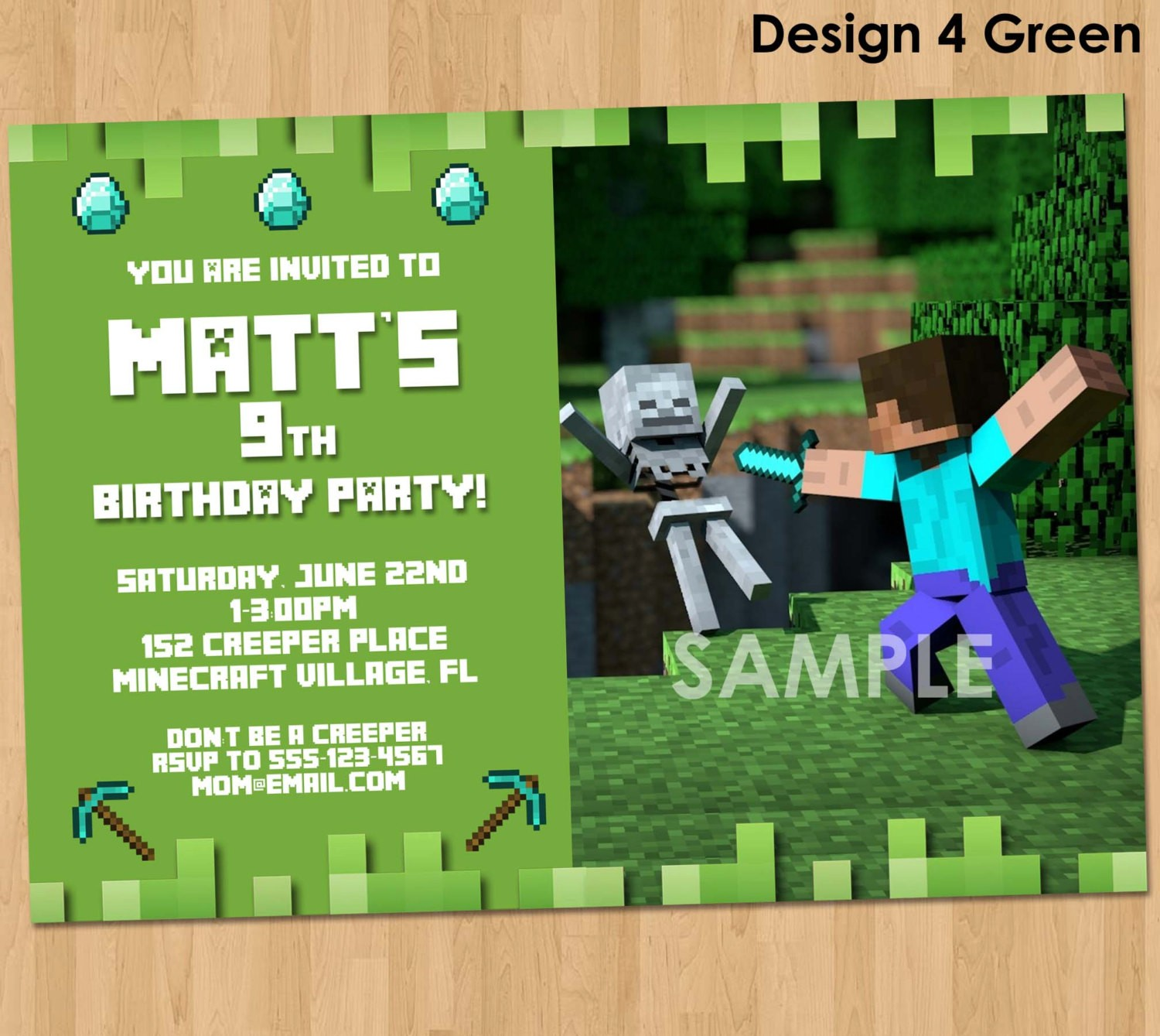 minecraft happy birthday card ; 2014%2520party%2520favors%2520-%2520minecraft%2520birthday%2520invitation%2520printable%2520minecraft-f76800