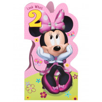minnie mouse 2nd birthday card ; 493058