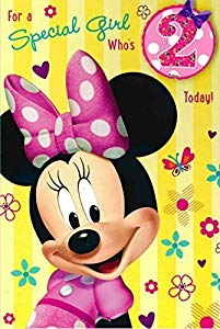 minnie mouse 2nd birthday card ; 51keO3NIZkL