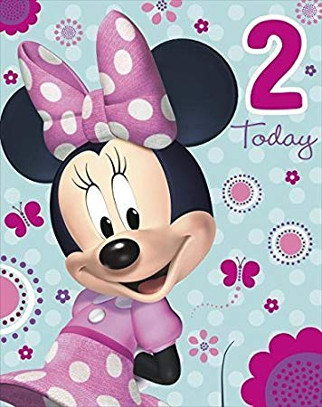 minnie mouse 2nd birthday card ; 51rCrQA3OWL